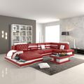 2107 modern Italy big size red genuine leather sofa
