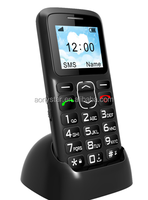 MTK6261 quad bank gsm 1.77inch senior bar phone hot sale in south America
