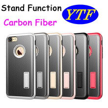 OEM available 3 in 1 combo Stand function carbon fiber case for Samsung Galaxy Note 5