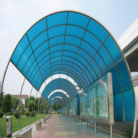 Decorative window polycarbonate canopy designs with sheet protector