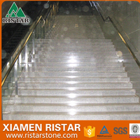 Polished granite stone stairs granite step and riser