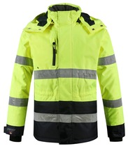 reflective safety clothing hi vis workwear winter outdoor jacket