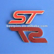 letter car badge with logo