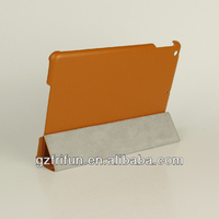 Beautiful color orange smooth leather laptop case for ipad air
