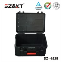 Hard ABS plastic carrying case with handle and wheels