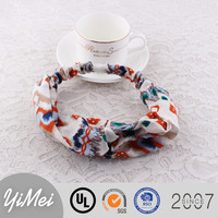 Hight Quality Printed pattern Winter Elastic Headband Handmade Hair Accessories for women