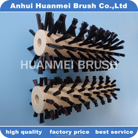 Polishing roller brush with steel wire