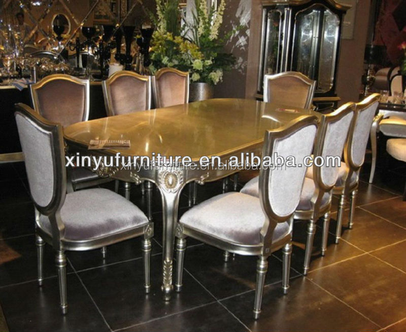 classical soild wooden dining table and chairs D1057