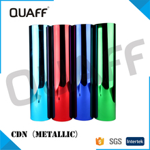 QUAFF Metallic heat transfer vinyl heat transfer printing film for plastic transfer cutting film for t-shirt metallic PET film