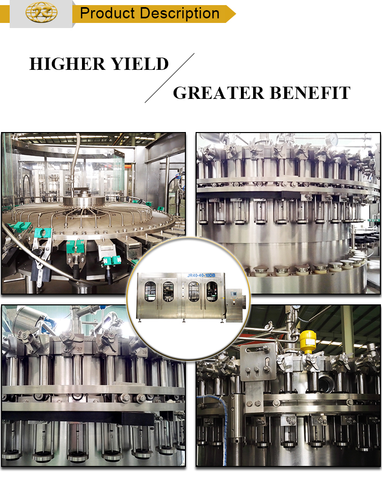 Classic high efficiency automatic liquid Beer filling sealing machine