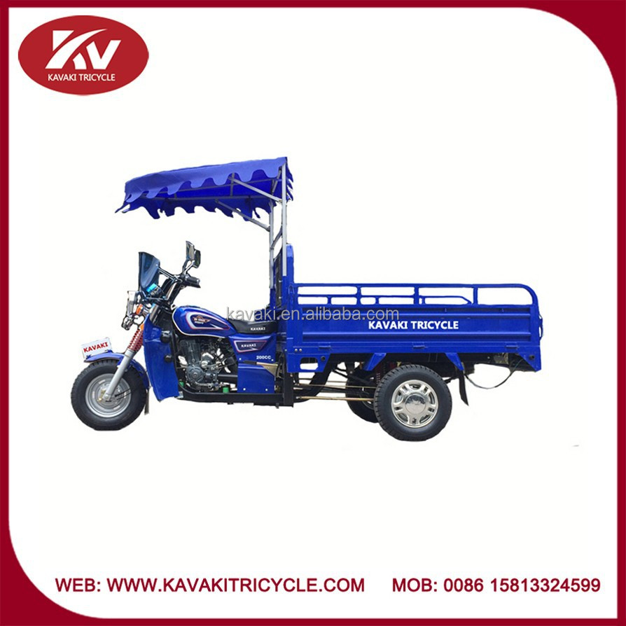 New design low price powerful gas powered adult 3 wheel motorcycle/tricycle