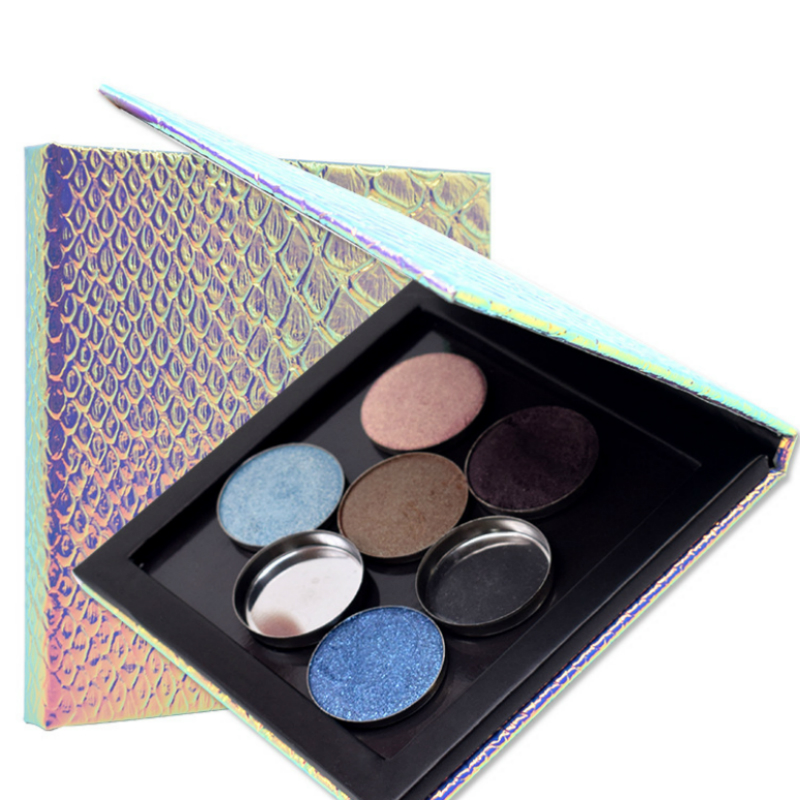 custom logo paper empty mermaid eyeshadow makeup eye shadow palette