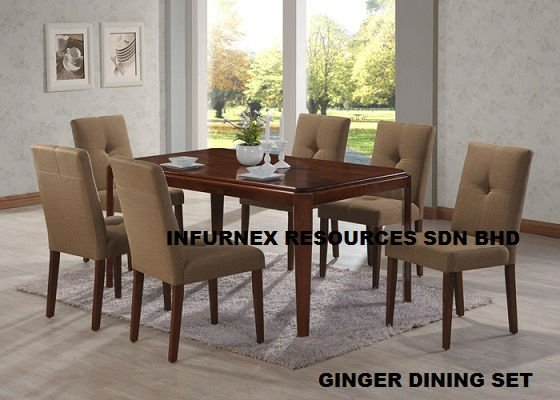 Ginger dining set, wooden dining set, wood furniture
