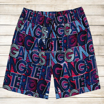 100%poly men's board shorts for summer wear