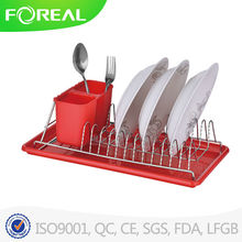 kitchen stainless steel &chrome plated dish drying rack