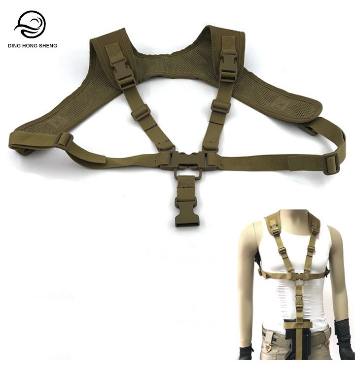 Tactical Gun Lanyard Shoulder Strap For P90 Rifle Sling Strap Chest Rig