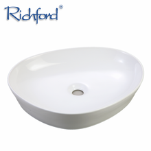 Hot Selling European Style Above Counter Bathroom Ceramic oval shaped Face wash Basin