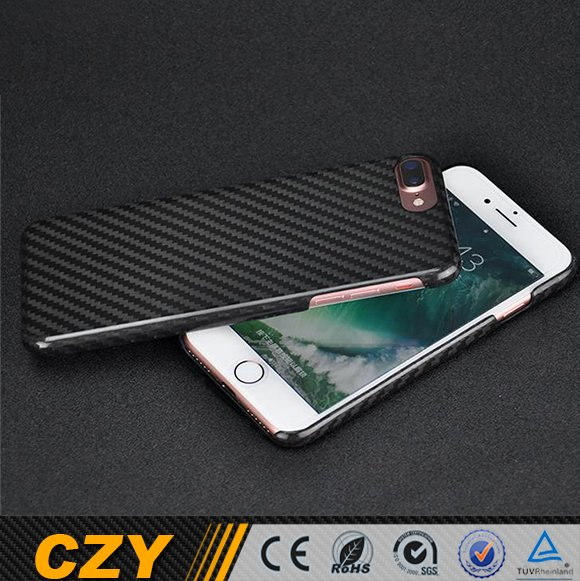 Customization Dry Carbon Fiber Mobile Back Case Cover for Iphone 7 Plus for Apple