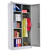 Favorable Price KD 2 Doors Steel Locker / Storage File Cabinet / Steel Cupboard with Two layers