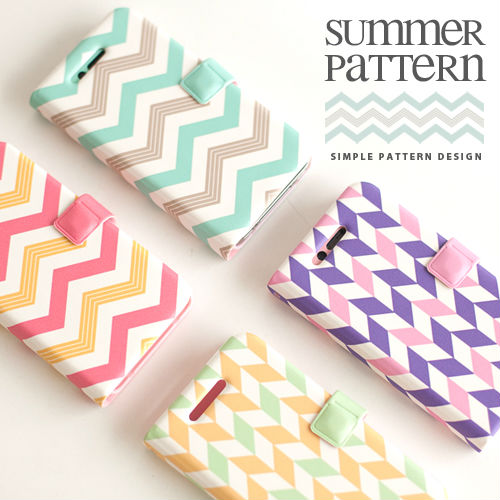 Summer Pattern_Happymori Design Flip Phone Cover Case for Apple iPhone 6 (Made in Korea)