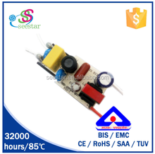 1500pcs/ctn 7w non isolated pf >0.98 max 120v output 170ma 9w open frame constant current led driver ic