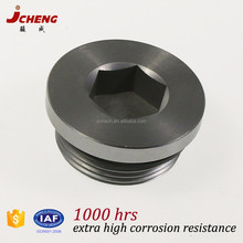 DIN2353, 3859 standard blanking plug for ports brass stainless steel hydraulic fitting