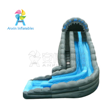 New design 22' screamer wild rapids inflatable water slide with pool