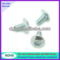 ISO 7380 truss head Torx carbon steel galvanized LED lamp screw