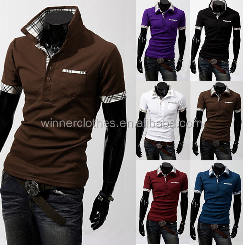 Wholesale men clothing Polo tshirt mens cheap custom tshirts
