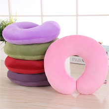Factory Price Neck Support Rest Memory Foam Plush U Shape Travel Neck Pillow
