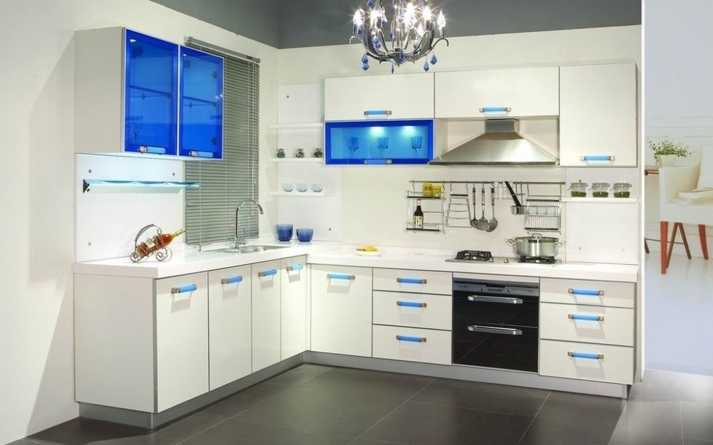 Modern Modular Kitchen Designs Light Color Kitchen Cabinet Combination Made In China Buy