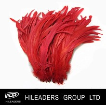 DNA151 Wholesale Red Rooster Pheasant Feather Tail