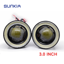 12V 10W 76mm Car Led Fog Light Angel Eyes Car Led Fog Light For hyundai sonata