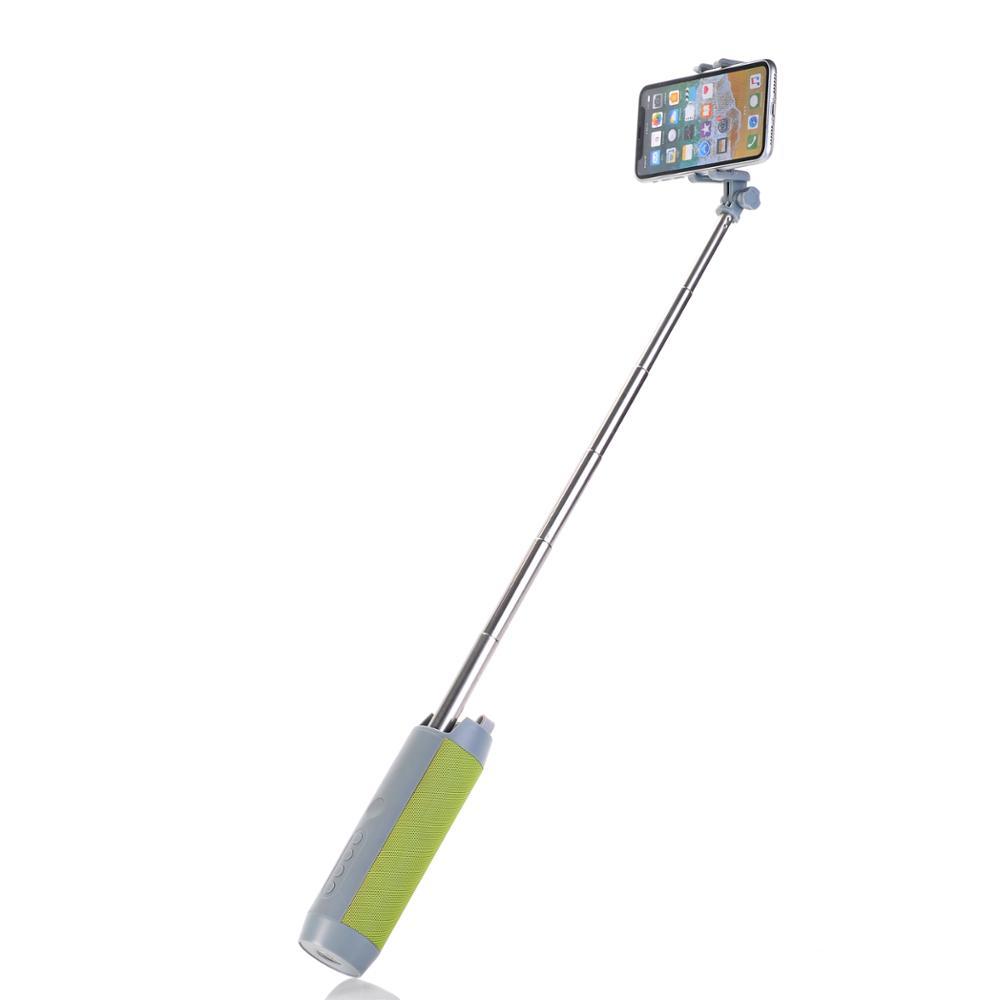 Portable Premium 5-En-1 Bâton de Selfie Extensible haut-parleur 1200MA Banque De Puissance avec La Lampe-Torche Lecteur de Musique - ANKUX Tech Co., Ltd