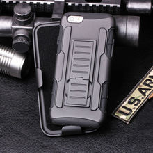 Manufacturer Wholesale With Future Armor Impact Skin Holster Protector mobile phone case for iPhone 6