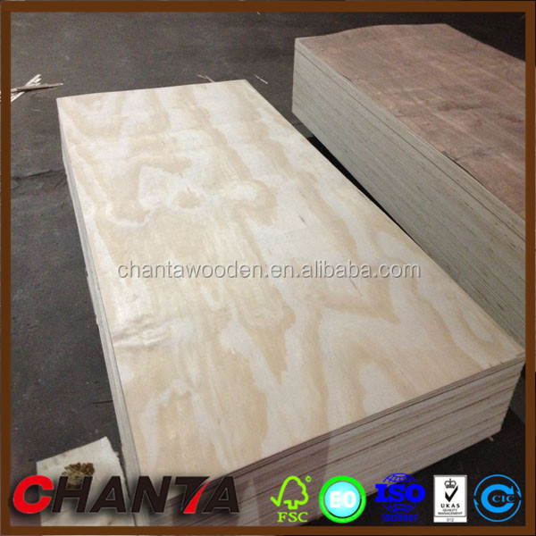 linyi manufacturer pine plywood for wooden house building with low price
