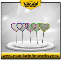 NEON SPARKLER FIREWORKS COLOR HEART SHAPE SPARKLER AND LIUYANG FIREWORKS