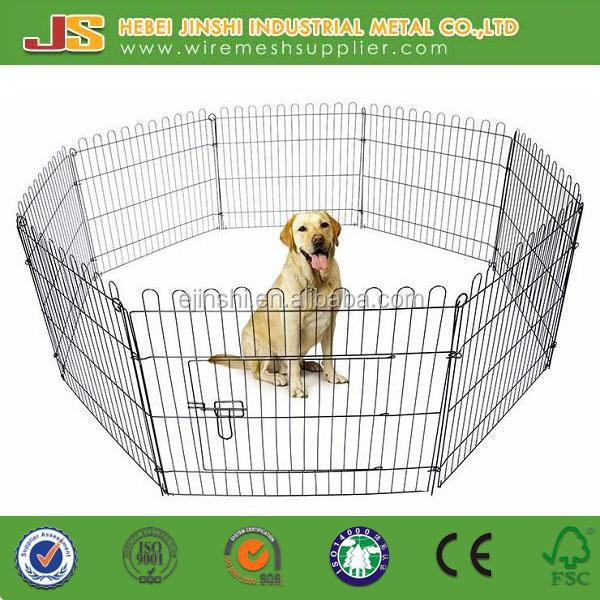 6 Panel Metal Play Run Cage Pet Dog Puppy Pen for Rabbit Guinea Pig Cat