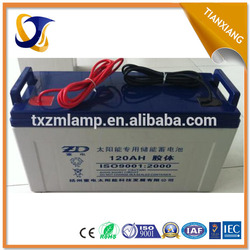 solar battery gel 120ah or battery 300ah
