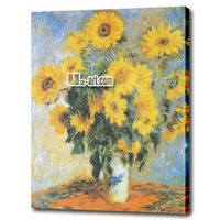 Canvas prints claude monet artwork famous oil painting reproduction picture sunflower
