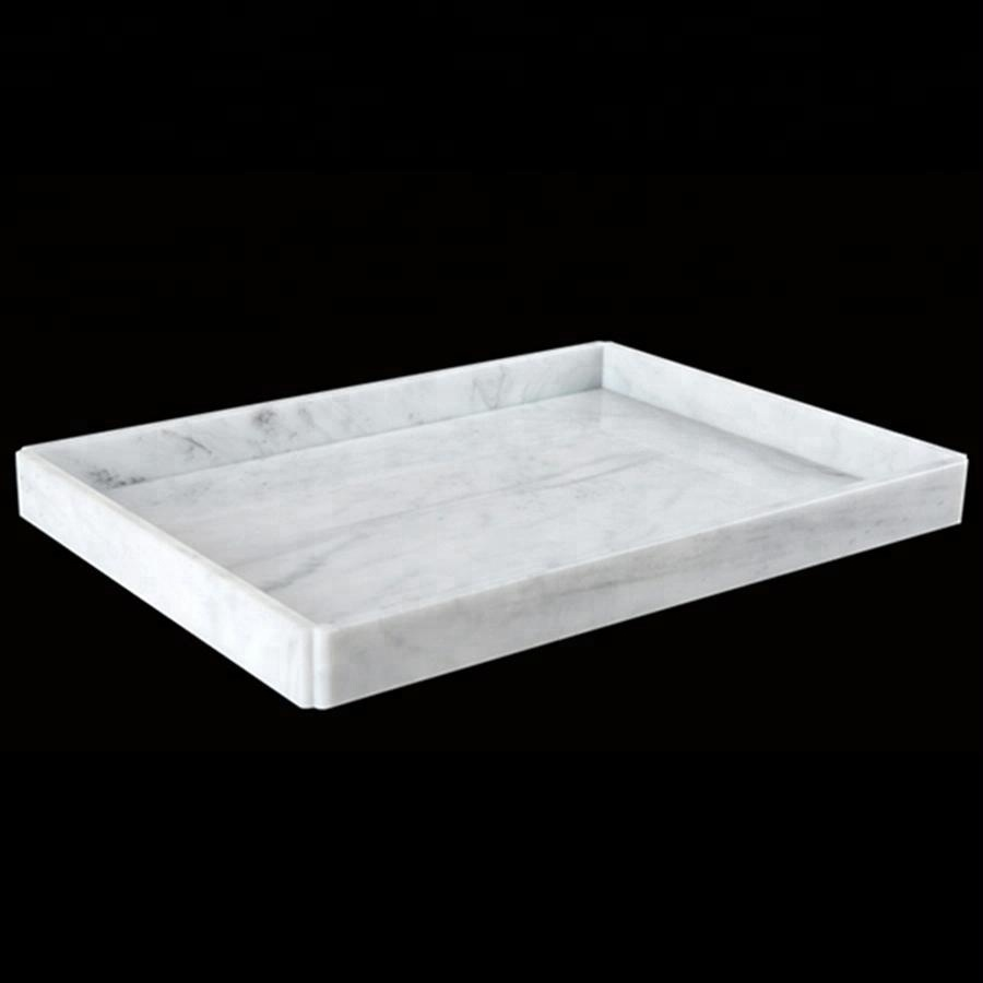 Wholesale hotel supply Customized durable acrylic tray marble serving tray