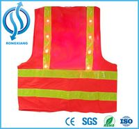 Hihg Quality Flashing LED Safety Vest With best price Custom Logo Safety Vests with LED Flashing Lights