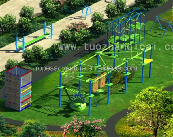 China children commercial outdoor playground equipment ropes course