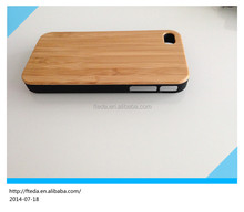 Luxury natural bamboo plastic case for iphone4 4s