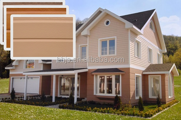 Prefab house light steel villa decorative facade sandwich wall panels siding hanyi panel