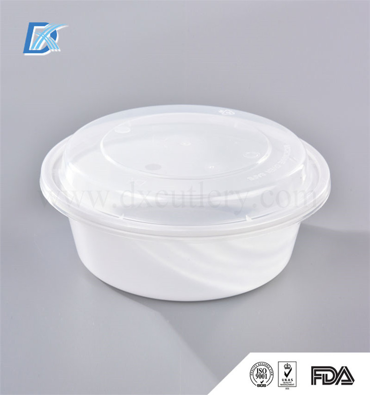 CE FDA Standard Round Plastic Food Container with Lid