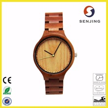 100% natural modern recycled wooden watch fashionable ladies wood watch for small wrist