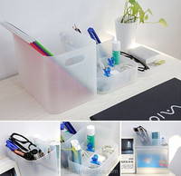 pp plastic Assorted 4-pcs office desk organizer