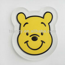 Cartoon animal car sticky mat, pu car sticky pad