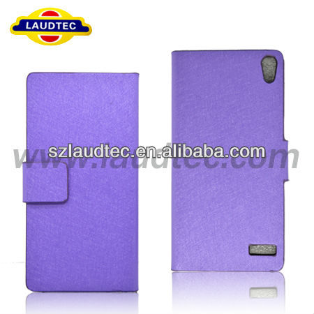 Hot Sell Slim Leather Flip Case for Huawei Ascend P6